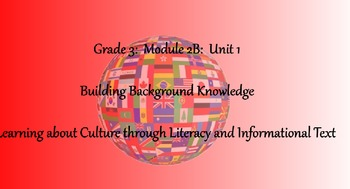 3rd Grade - Module 2B Unit 2 Bundle - Researching a Country's Culture