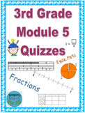 3rd Grade Module 5 Quizzes for Topics A to F - Editable
