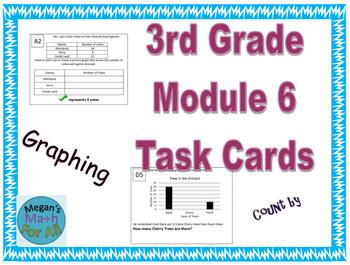 3rd Grade Module 6 Task Cards - Graphing - EDITABLE - Test Prep