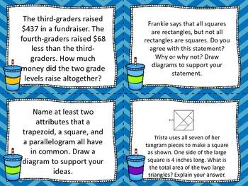 3rd Grade Module 7 Application Problem Task Cards