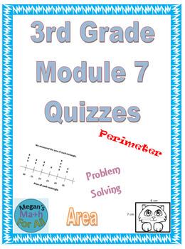 3rd Grade Module 7 Quizzes for Topics A to E - EDITABLE