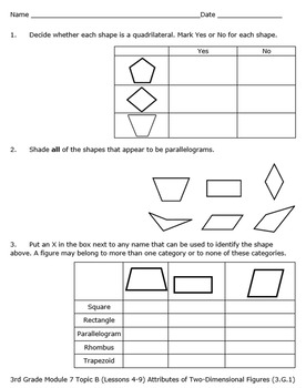 3rd Grade Module 7 Quizzes for Topics A to E - EDITABLE- SBAC