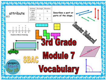 3rd Grade Module 7 Vocabulary - SBAC - Editable