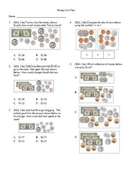 3rd Grade Money Unit Test by Kimberly Wheat   Teachers Pay ...