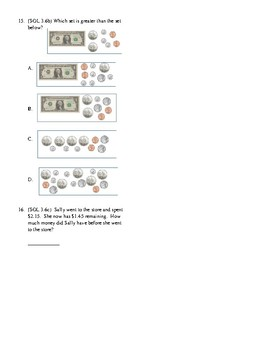 3rd Grade Money and Time Unit Test