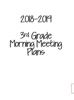 3rd Grade Morning Meeting Binder