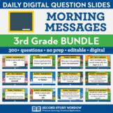 3rd Grade Morning Messages Slides Bundle for Morning Meeti