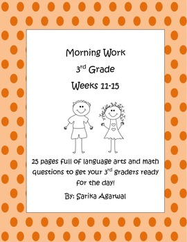 3rd Grade Morning Work Weeks 11-15