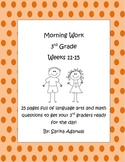 3rd Grade Morning Work Weeks 11-15