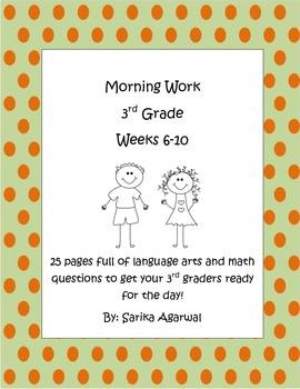 3rd Grade Morning Work Weeks 6-10