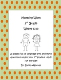 3rd Grade Morning Work Weeks 6-10