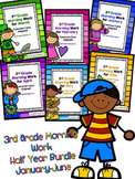 3rd Grade Morning Work Bundle for January-June Common Core Aligned
