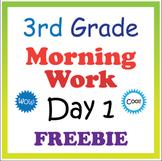 3rd Grade Morning Work: Day 1 Freebie