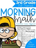 3rd Grade Morning Work Fall Themed