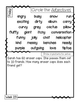 3rd Grade Morning Work Journal Set 3 [third 10 weeks]