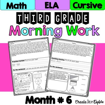 3rd Grade Morning Work Math and ELA