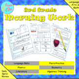 3rd Grade Morning Work Math & ELA Spiral Review - Distance