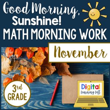 3rd Grade Morning Work {November}