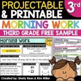 3rd Grade Morning Work - ONE FREE WEEK   Math AND ELA