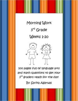 3rd Grade Morning Work Weeks 1-20