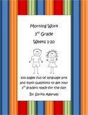 3rd Grade Morning Work Weeks 1-20