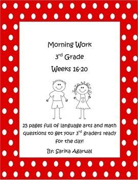3rd Grade Morning Work Weeks 16-20