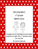 3rd Grade Morning Work Weeks 16-20