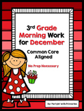 3rd Grade Morning Work for December Common Core Aligned