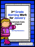 3rd Grade Morning Work for January Common Core Aligned