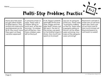 Multi-Step Word Problems 3rd Grade