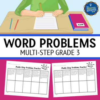 multi step word problems 3rd grade by the brighter rewriter tpt. Black Bedroom Furniture Sets. Home Design Ideas