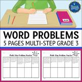 Multistep Word Problems 3rd Grade