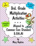 3rd  Grade Multiplication Activities - Common Core 3.OA.A1