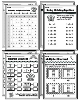 "3rd Grade Multiplication Division ""Mastery Pack"" for April"
