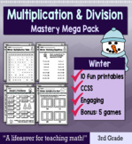 """3rd Grade Multiplication Division """"Mastery Pack"""" for January"""