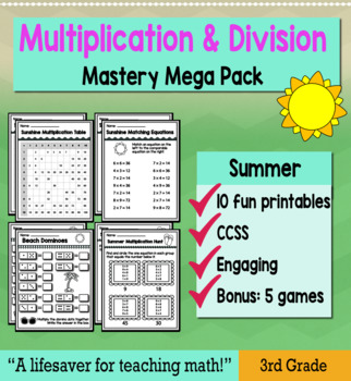 "3rd Grade Multiplication Division ""Mastery Pack"" for May"