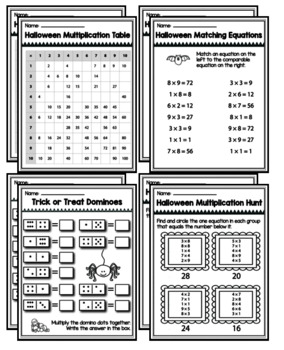 "3rd Grade Multiplication Division ""Mastery Pack"" for October"