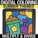 3rd Grade Multiplication & Division | Summer Digital Color