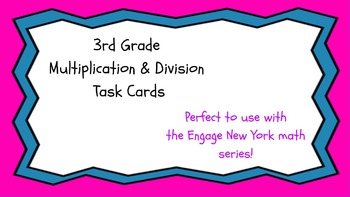 3rd Grade Multiplication & Division Task Cards ~ CCSS Word Problems