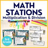 3rd Grade Multiplication & Division Task Cards TEKS 3.4K 3.5B 3.5E