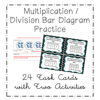 3rd Grade Multiplication & Division Task Cards - Tape Diag