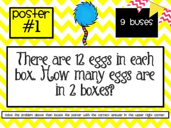 3rd Grade Multiplication & Division Word Problem Scavenger Hunt - 3.OA.3