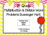 3rd Grade Multiplication & Division Word Problem Scavenger