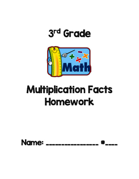 3rd Grade Multiplication Facts Homework (Drill and Practice)