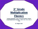 3rd Grade Multiplication Fluency Stations Activities - TEKS 3.4F,G,K, and 3.5B