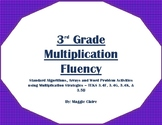 3rd Grade Multiplication Fluency Stations Activities - TEKS 3.4F,G,K, and 3.5B