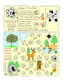 """3rd Grade Multiplication Game """"The Tree with the Leaves of Gold"""" Adventure Map!"""