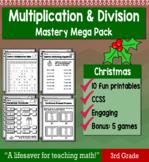 "3rd Grade Multiplication Division ""Mastery Pack"" for December"