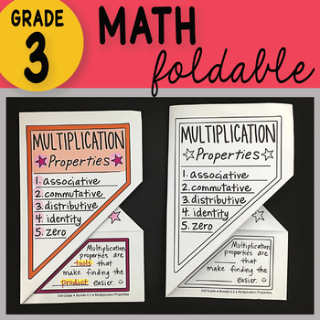 3rd Grade Multiplication Properties Foldable by Math Doodles