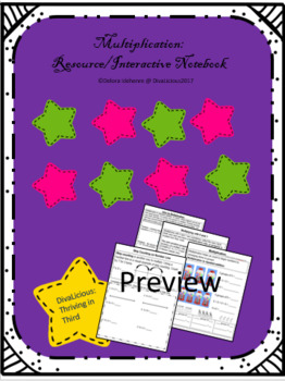 Multiplication Resource Notebook or Interactive Notebook